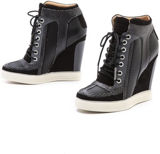 shoes l.a.m.b. wedge sneakers sneakers summer wedges