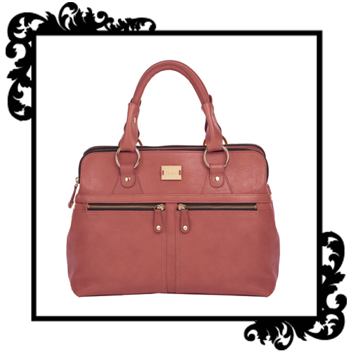 Sac modalu london de pippa middleton, modèle toffee en cuir rose