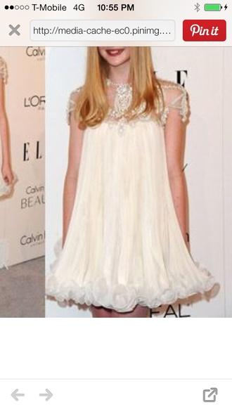 dress white white dress silver beaded short dresses beaded champagne
