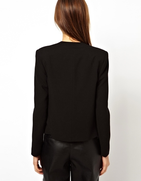 ASOS | ASOS Cropped Blazer With Clean Lapel at ASOS