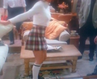 skirt high waisted tartan skater skirt jennifer aniston blouse