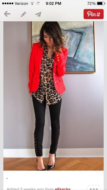 blouse leopard blouse