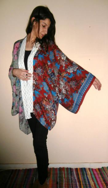 651cfc168 blouse vintage boho beach bohemian gypsy hippie free shipping handmade etsy  kimono robe floral