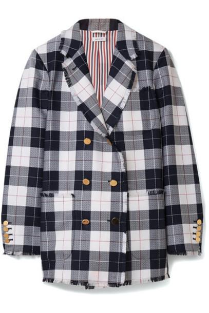 Thom Browne blazer blue wool jacket