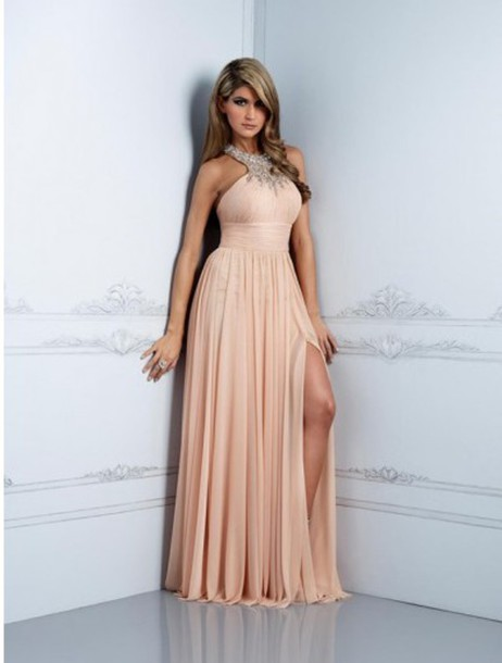 dress open back dresses prom dress prom long dress long prom dress peach sparkle sparkly dress cute dress cute formal dress formal formal event outfit evening dress birthday dress birthday blonde hair tan slit dress sweet 16 dresses