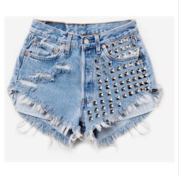 shorts High waisted shorts studded shorts