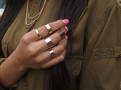 jewels,ring set,ring,gold,copper,metal,knuckle ring,band
