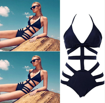 Brand victoria swimwear for women,high waist swimsuit bikinis,sexy monokini bathing suit, womens bandage swimsuit black swimwear