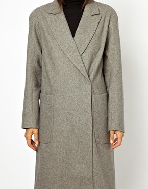 ASOS | ASOS Oversized Wrap Front Coat at ASOS