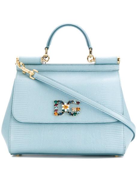Dolce & Gabbana women bag shoulder bag leather blue