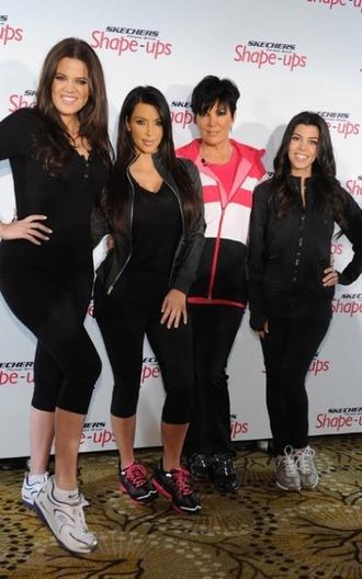 jacket kim kardashian khloe kardashian kourtney kardashian kris jenner sketchers