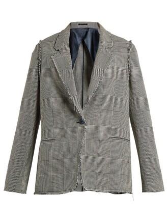 jacket white grey