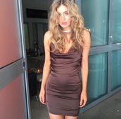 dress,bad af fashion,satin dress,brown,brown dress,going out,club dress,classic,mini dress,satin,sexy,date outfit