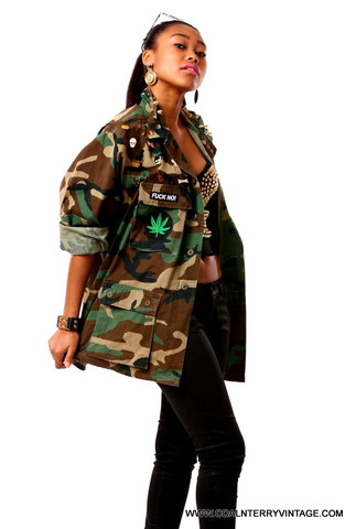 Roll up army jacket