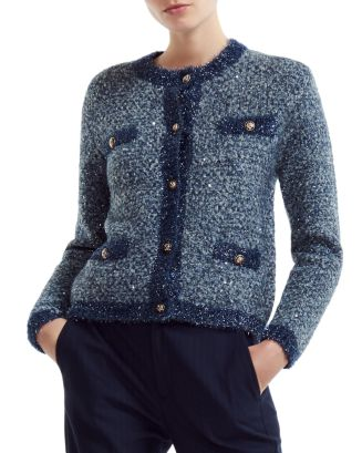 Maje Mission Sequined Cardigan | Bloomingdale's