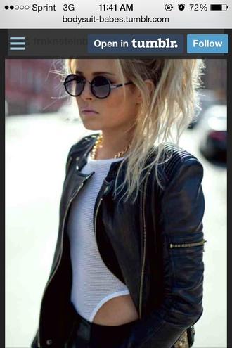 jumpsuit romper mesh see through leather jacket jacket mesh bodysuit