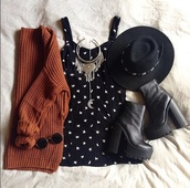 dress,indie bag,black bikini,moon,stars,sweater,high heels,hat,top,sunglasses,panama hat,hat with band,necklace,jewelry,boots,platform boots,leather boots,black boots,rust,cardigan,cute dress,knitwear,chunky cardigan,statement necklace,fedora black hat red ribbonn,fedora,ankle boots,booties,outfit idea,fashion inspo,blogger,popular sweater,fashionista,chill,rad,outfit,cute,stylish,style,trendy,beautiful,gorgeous,teenagers,tumblr,tumblr outfit,on point clothing,need it now,shoes,shirt,home accessory,romper,jewels