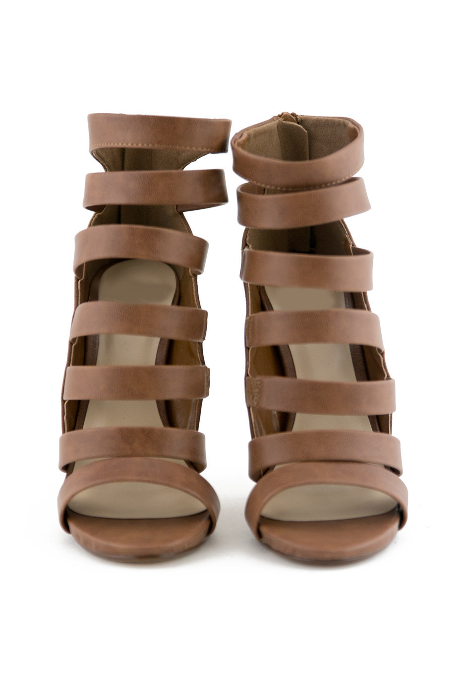 STRAPPY SANDAL HEEL - BROWN | Haute & Rebellious