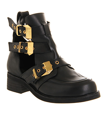 Office Ultimate 2 Black Leather - Ankle Boots