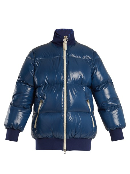 Acne Studios coat quilted blue