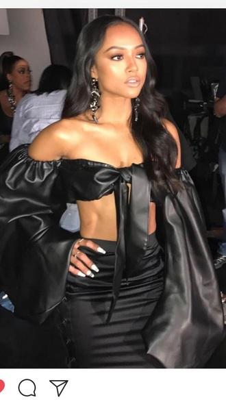 dress karrueche black silk