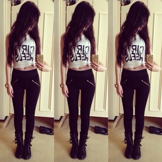 leggings gold pants black jeans black leggings zip slanted zipper shirt