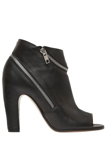 MAISON MARGIELA leather ankle boots zip boots ankle boots leather black shoes