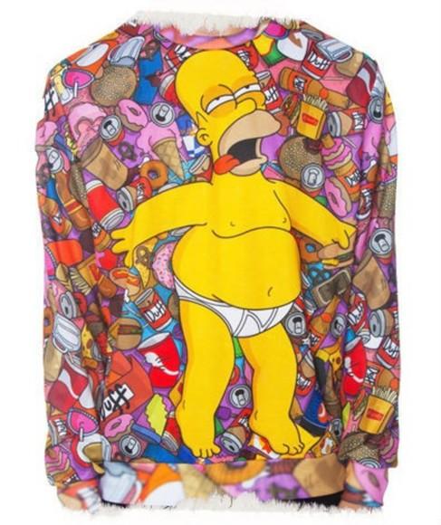 sweater pullover simpson homer simpson jaune