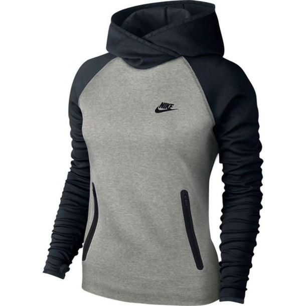 sweater nike clothes hoodie grey black sportswear. Black Bedroom Furniture Sets. Home Design Ideas