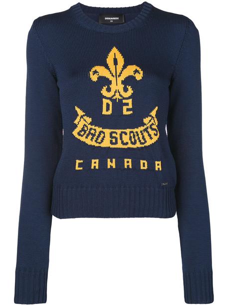 sweater women cotton blue