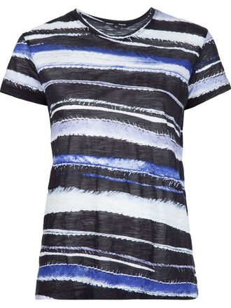 t-shirt shirt striped t-shirt blue top