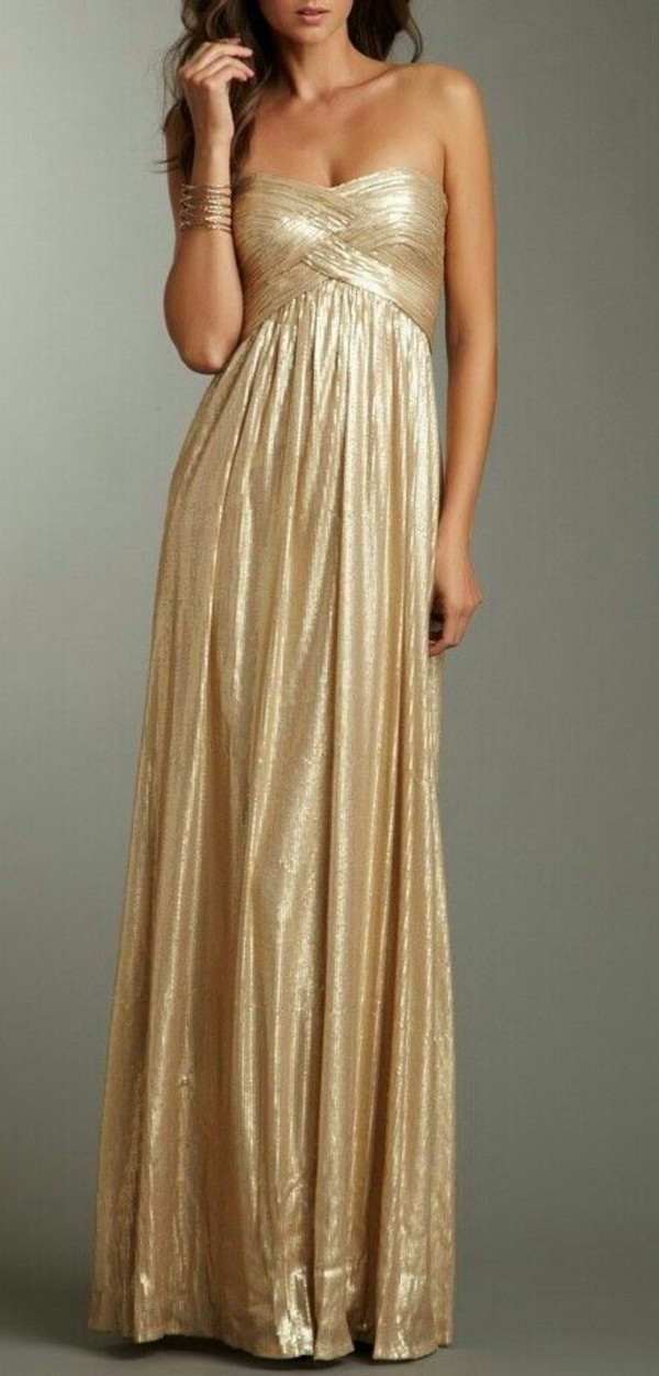 dress gold gold dress ball gown dress prom dress long prom dress gold prom dress