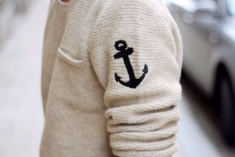 sweater menswear anchor beige