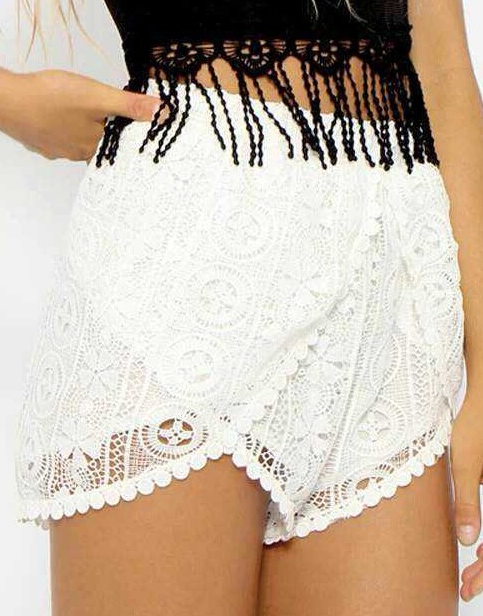 Elastic High Waisted Summer Shorts