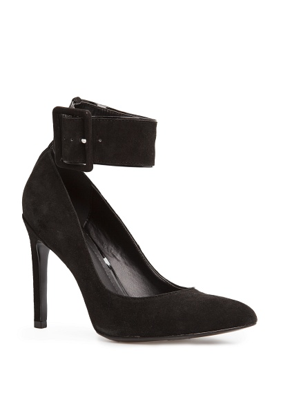 MANGO - Sale - Shoes - Ankle strap suede stiletto shoes