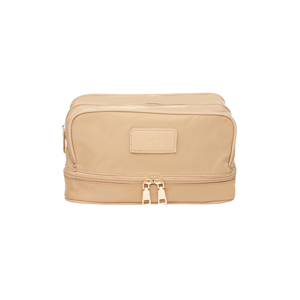 Stone Paris Nylon Cosmetic Case (Gold Zip)