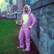 jumpsuit,snoop dogg,bunny,onesie,easter,purple,coat