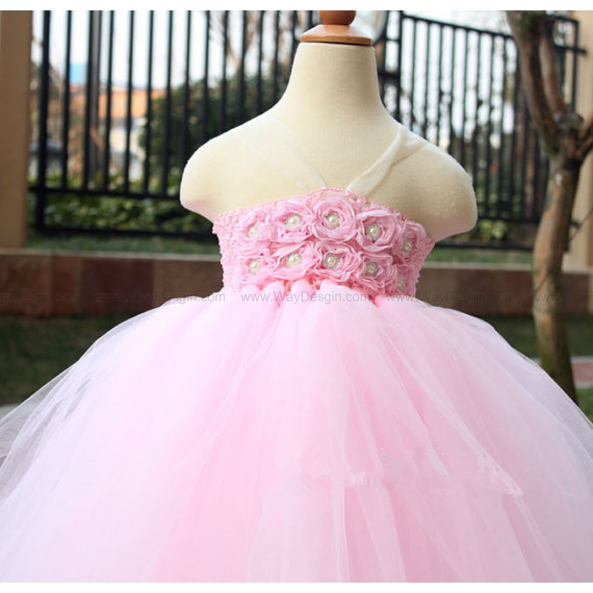 Pink tutu dress Flower Girl Dress baby dress toddler birthday dress wedding dress