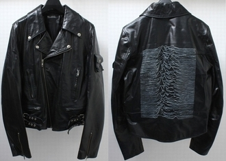 jacket leather black joy division