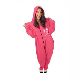 pajamas pink onesie janoskians tumblr girl
