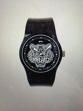 jewels,kenzo,mens accessories,watch,black watch