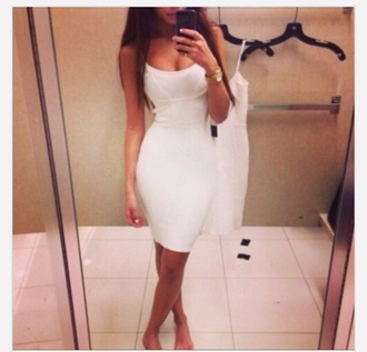 dress party strapless new tight sleeveless style plain bodycon dress