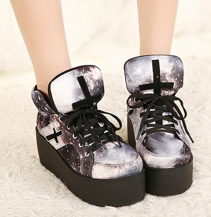 Crosses Galaxy Platform Shoes Creepers on Luulla