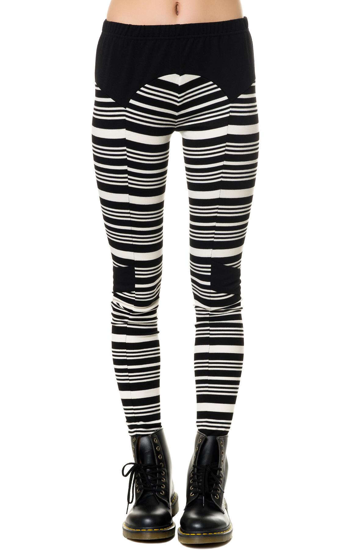 Standard issue womens utility leggings in blk stripe