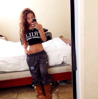 shirt pants sweatpants baggy pants india westbrooks westbrooks dope trill