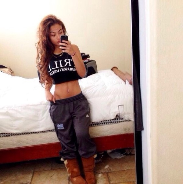 shirt pants sweatpants baggy pants india westbrooks india westbrooks westbrooks dope trill
