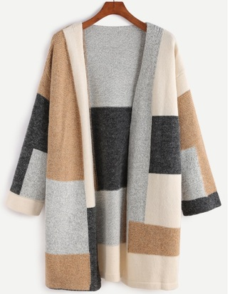 cardigan patchwork topshop fall sweater fall colors nude knitted cardigan