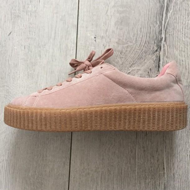 shoes pink rihanna creeper look alike platform sneaker 300d4c60d