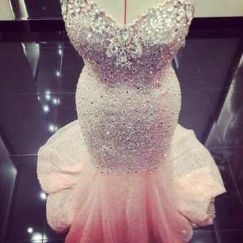 Aliexpress.com : buy fantastic bling crystals sweetheart mermaid sleeveless long prom dresses 2015 special occasion dresses for fashion women from reliable prom dresses suppliers on suzhou dreamybridal co.,ltd