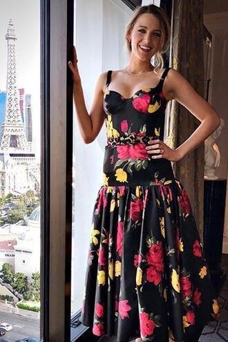 dress midi dress floral floral dress bustier dress blake lively instagram